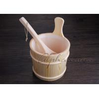 Quality 3L Sauna bucket and ladles with PE plastic liner , sauna water bucket for sale