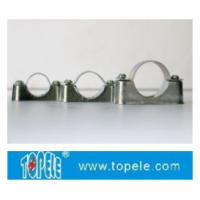 Quality BS4568 / BS31 Steel Conduit Fittings Carbon Steel Spacer Bar Saddle With Base for sale