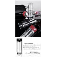 fashion 350ml transparent vacuum double glass silicone infuser hydrogen water bottle with built-in