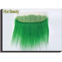 """Quality 10"""" - 20"""" Human Hair Lace Closure No Synthetic Green Color No Smell for sale"""