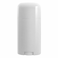 Quality Custom Design White Twist-up Oval Shape Empty Plastic Deodorant Containers for sale