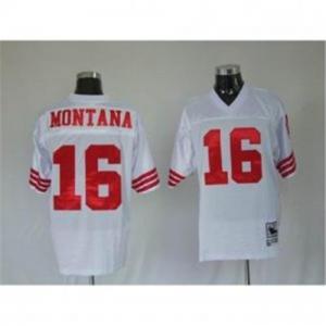 China Joe Montana #16 San Francisco 49ers White Throwback NFL Jerseys on sale