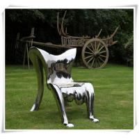 Quality Modern Polished Garden Chair Stainless Steel Furniture Sculpture for sale