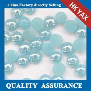 China Korean flat back pearl hotfix, China hotfix flat back pearl, wholesale flat back hotfix pe on sale