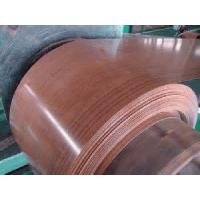 Quality Wooden Pattern PVC Color Coated Steel Coil Sheet Steel For Wine Fridge Casing for sale
