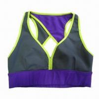 Quality Women's Sport Top, Comfortable, Breathability, Made of Nylon/Spandex Cotton Material for sale