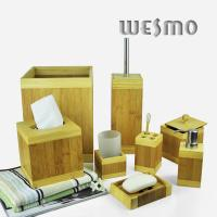 Quality 8 Piece Smooth and Anti Water Bamboo Bathroom Sets for sale