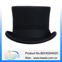Quality 2015 hot selling wool felt carnival top hat for men for sale