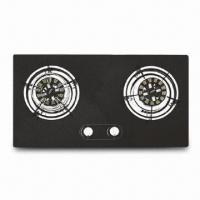 Quality Gas Hob Built-in, Made of Tempered Glass, 3.8/3.8kW Rated Thermal Flow, 683 x 352mm Cut Size for sale