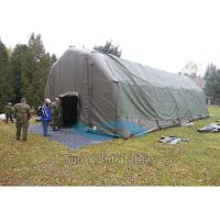 Quality Strong Customized Inflatable Army Tent , Inflatable Military Tent for Camping for sale