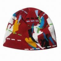 Quality Acrylic jacquard hat for sale