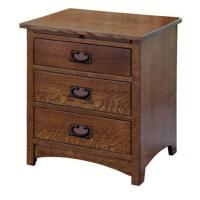 Buy cheap Elegant Espresso Wooden Nightstand Home Furniture Smart Bedside Table from wholesalers