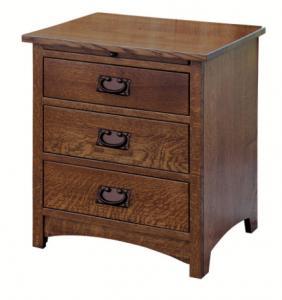 Quality Elegant Espresso Wooden Nightstand Home Furniture Smart Bedside Table for sale