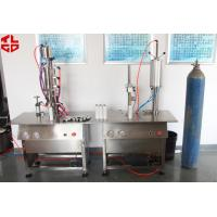 Buy cheap Pneumatic Aerosol Can Bag On Valve Filling Machine Semi Automatic BOV Filling Machines from wholesalers