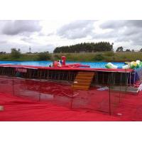 China Customized Portable Outdoor Above Ground Metal Frame Swimming Pools EN14960 on sale