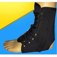 Quality AS-05-1 Lace-up ankle brace/support/immbilizer/stabilizer/care  Mesh Cloth Hinged Ankle Foot Orthosis Black Color for sale