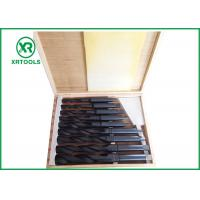 Quality Roll Forged / Milled HSS Taper Shank Drill Bit Set With Wooden Box DIN 345 for sale