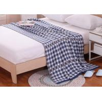 Quality Large Knit Blanket 100% Polyester , Personalised Knitted Blanket for sale
