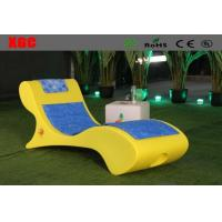 China Leisure Led Outdoor Chaise Lounge Chairs With Rechargeable Lithium Battery on sale