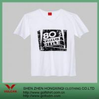 Quality White Casual T Shirt With Exquisite Logo for sale