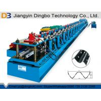 China Crash Barrier Roll Forming Machine Highway Guardrail With Hydraulic Post Cutting System on sale