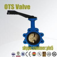 Quality lug type butterfly valve with aluminium handlever for sale