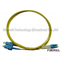 China SC To LC Fiber Patch Cable , Optical Fiber Patch Cord SM Duplex With Pulling Eye on sale