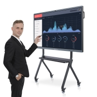 Quality 100'' Digital Interactive Board Smart Digital IR Whiteboard Interactive Display Stand For Meeting for sale