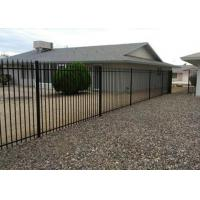 Quality Iron Garrison Fence Panel PVC Coated Ornamental Wrought 1.8M X 2.1M for sale