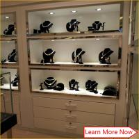 Quality Customized wholesale commercial led lighted mdf jewelry display shelves for sale for sale