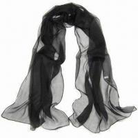 China Polyester Chiffon Scarf, Suitable for All Seasons, Different Colors are Available on sale
