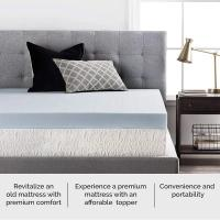 Buy Washable Full Size Memory Foam Topper , Knitted Fabric Cover Padded Mattress Topper at wholesale prices