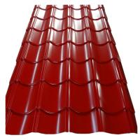 China 0.4mm PE Coated Metals Roofing Tile / Metal Roof Tile Sheet Building Material on sale