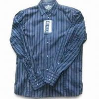 Quality Men's Casual Shirt with Long Sleeves and Stripe Design for sale