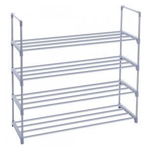 Quality Adjustable 4 Tier Shoe Storage Rack Shelf With Big Space Metal Shelving Unit for sale