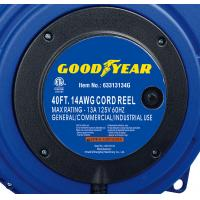 Buy cheap 40ft Triple Tap Heavy Duty Extension Cord Reel Goodyear Hose Reel With LED Lighted Connector product