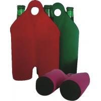 Quality Hot-selling High quality Neoprene Wine holder Water bottle bag two-Bottle holder with handle for sale
