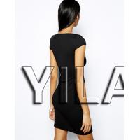 China Textured Bodycon Sexy Club Dress 2015 with Zip Front Women Dresses L1471 on sale