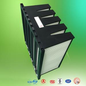 Quality Clean Room Fiberglass Air Filters Merv10 Plastic Frame V Cell Air Filter for sale