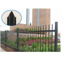 Buy cheap Eco Friendly Black Steel Fence Rust Resistance Without Flaking / Fading from wholesalers