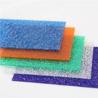 China Indoor Decoration Embossed Polycarbonate Sheet With Good Impact Resistance on sale