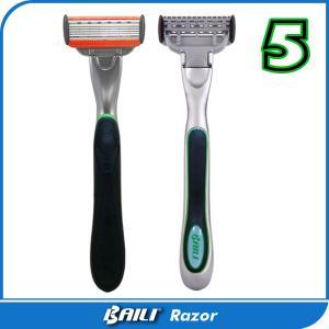 Quality 5 Blade Ladies Shaving Razor Premium Metal Handle Stainless Shaving Blade for sale
