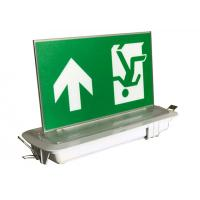 Quality Industrial LED Plastic Green Running Man Sign Ceiling Recessed Emergency Light for sale