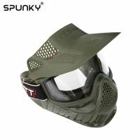Quality Tactical Protective Paintball Face Mask With Single Layer Anti Fog Lens for sale