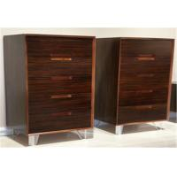 Quality Modern Vertical Storage Cabinet With 5 Drawers , Popular Walnut Wooden Cabinet for sale