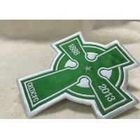 Buy cheap Beautiful Oval Custom Clothing Patches Embroidered Sew On Badges Eco - Friendly from wholesalers