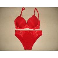 Quality Hot Red Lace Bra Set (S61231) for sale