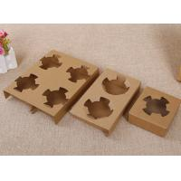 China Brown paper holder for two bubble tea cups on sale