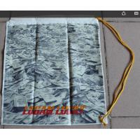 Quality Custom printed less, high-capacity shoulder bag/Single yellow PP pull rope, diameter 5mm, from top to bottom; for sale