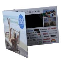 Quality Homemade LCD Video Brochure Card , 128MB-8GB LCD Christmas Card With Magnet Switch for sale